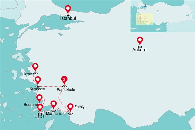 Fly & Drive Hoogtepunten van zuid-west Turkije