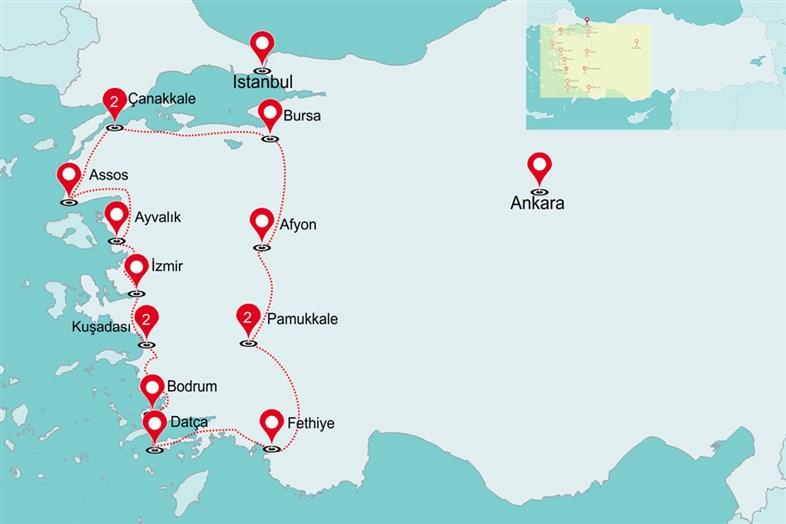 Fly & Drive Parels van West-Turkije