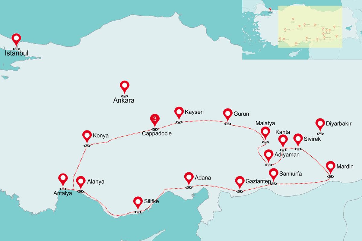 Fly & Drive Primitief Turkije